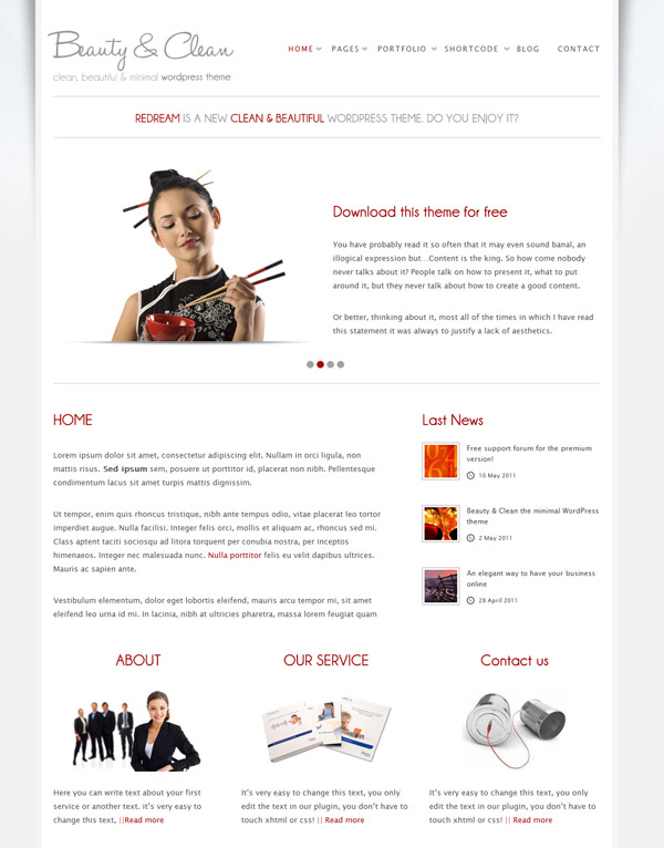 minimal beauty free wordpress theme 15 Free 2012 Kickstart WordPress Themes