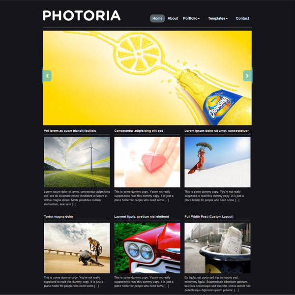 photoria free wordpress theme 15 Free 2012 Kickstart WordPress Themes