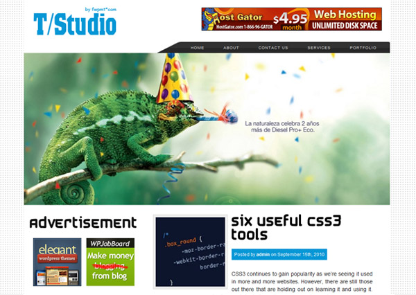 thao studio free wordpress theme 15 Free 2012 Kickstart WordPress Themes