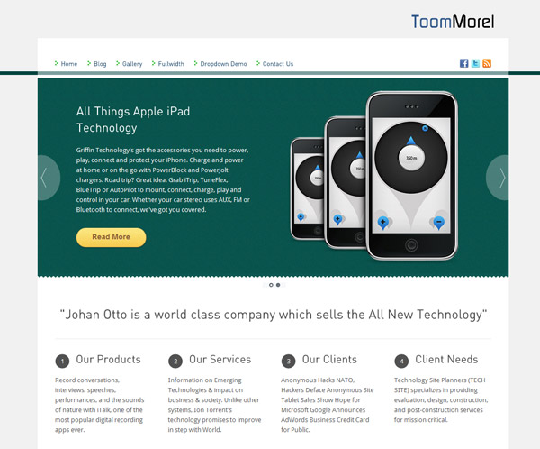 toommorel lite free wordpress theme 15 Free 2012 Kickstart WordPress Themes
